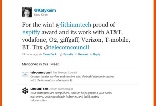 Twitter _ @Katy Keim_ For the win! @lithiumtech ....jpg