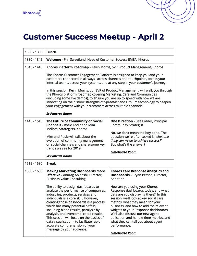 Khoros LDN Customer Success Meetup Agenda - April 2nd 2019.jpg