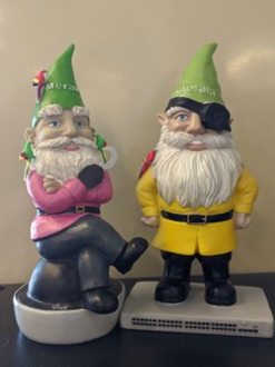 Meraki Gnomes dressed up for Talk Like A Pirate Day