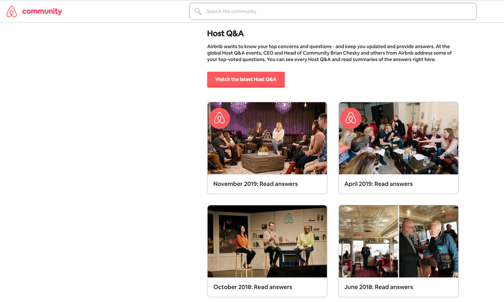 The Host Q&A Custom Homepage