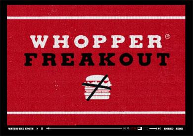 Whoppe Freakout website