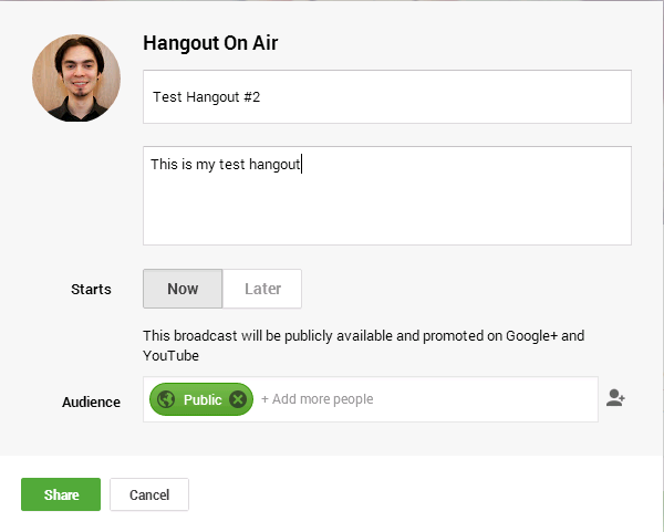 Google Hangouts on Air in Lithium Community - Step 1