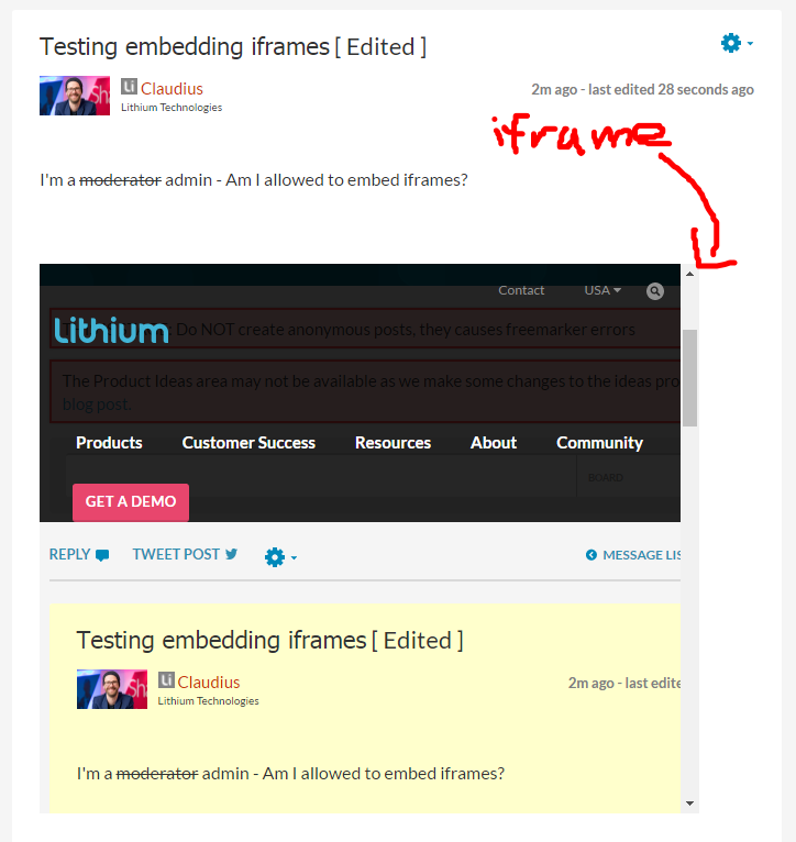 iFrame inception